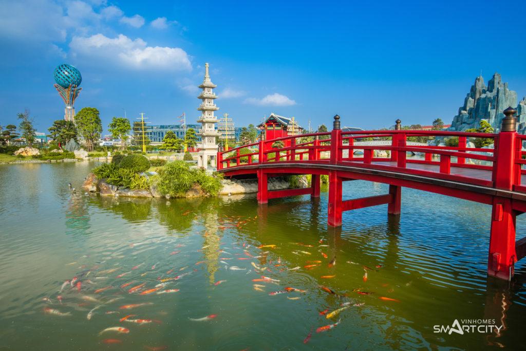 Nét chấm phá tạo nên vẻ đẹp vườn Nhật Vinhomes Smart City