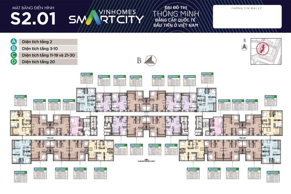 Mặt bằng S2.01 Vinhomes Smart City