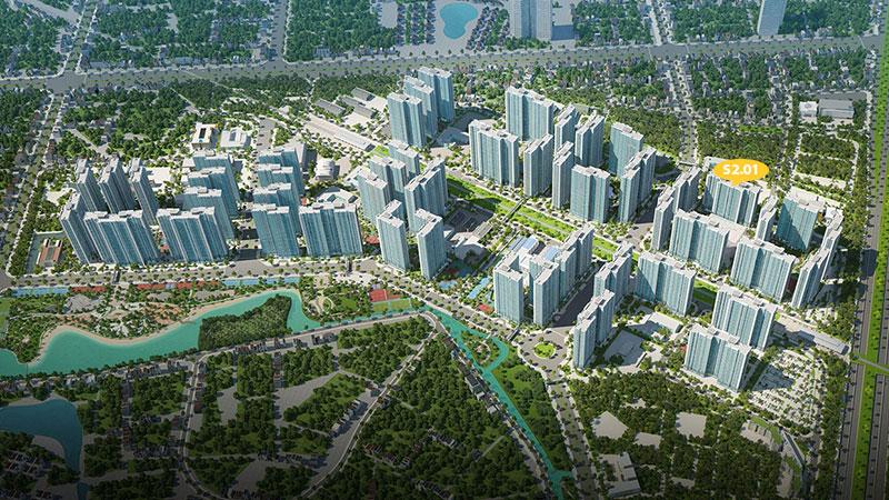 Vị trí S2.01 Vinhomes Smart City