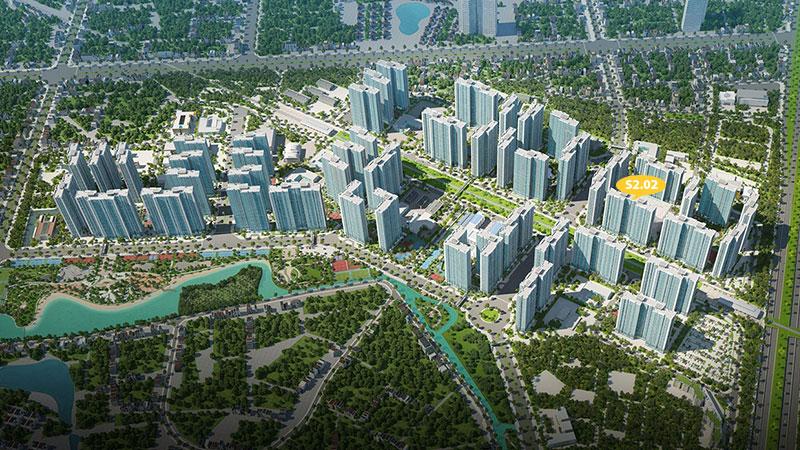 Tổng quan tòa S2.02 Vinhomes Smart City