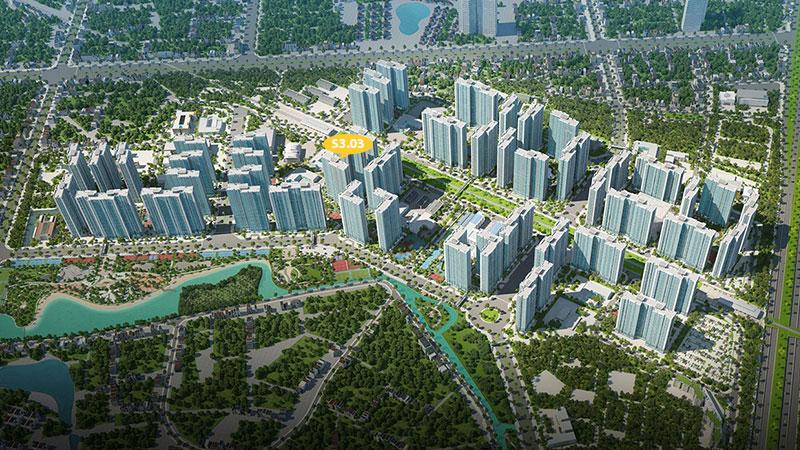 Tổng quan tòa S3.03 Vinhomes Smart City