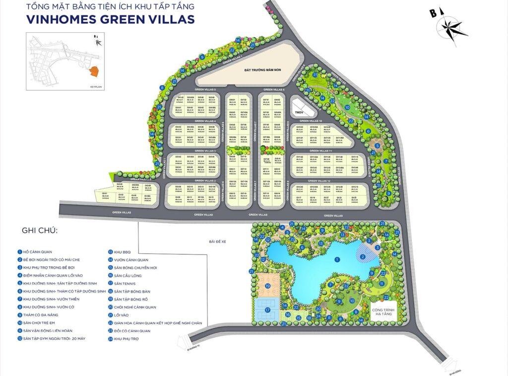 Vinhomes Green Villas với mặt bằng lên tới 13.7 ha