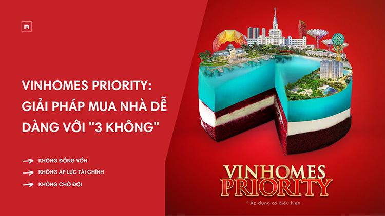 """""""Vinhomes Priority"""" 3 KHÔNG – Chương trình siêu ưu đãi có gì đặc biệt?"""